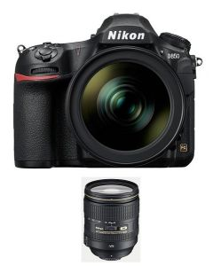 NIKON D850 BODY ONLY, FULL FRAME DSLR, 45.7 MP (VBA520AM) + Memory Card 64GB + NIKON AF-S 24-120mm f/4G ED VR Lens + NPM Card