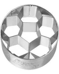 Birkmann Cookie Cutter Football small, 4,5 cm Stainless steel, with internal detailing (195349)