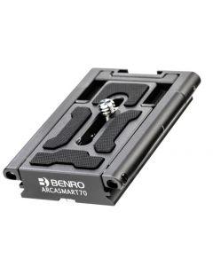 Benro 70mm Arca-Swiss plate with Smartphone Adapter (BENRO-ARCASMART70)