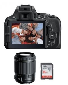 Nikon Camera D5600 Body + 16GB SD Card + Tamron 18-200mm F/3.5-6.3 Di II VC (VBA500CM)