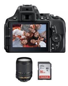 Nikon Camera D5600 Body + 16GB SD Card +  Nikon AF-S DX NIKKOR 18-140mm Lens (VBA500CM)
