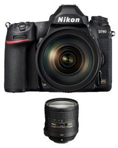 كاميرا نيكون D780 هيكل فقط + بطاقة ذاكره 64 جيجابايت +  عدسة 24-85 (VBA560AM)