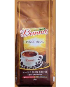 بونا  قهوه حبوب هارفيست بليند 1 كيلو (BUNNA HARVEST BLEND)