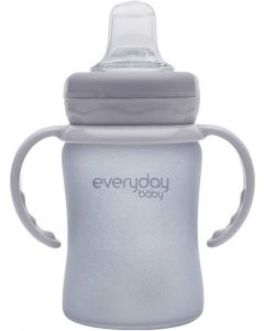 Everyday Baby Glass Sippy Cup Shatter Protected - Gray - 150 ml (10311)
