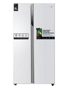 Haier Refrigerator Side by Side, 17.8 Cu.Ft./504 Ltrs, Dual Inverter Compressor, White (HRF-650WW)