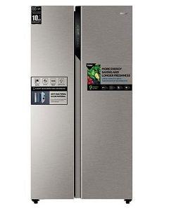 Haier Refrigerator Side by Side, 17.8 Cu.Ft./504 Ltrs, Dual Inverter Compressor, Silver (HRF-650SS)