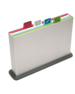 Joseph Joseph Index™ Colour-coded chopping board set, Silver, Large (60025)