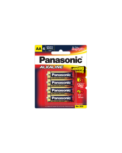Panasonic Alkaline AA-Size Battery 4X1 (LR6T/4B)