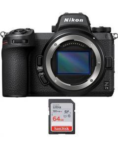 نيكون Z7ii كاميرا + بطاقة ذاكرة 64 جيجابايت (VOA070AM)