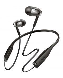 (SHB5950BK/00) سماعة الأذن اللاسلكية المغلقة من الخلف بكابل مسطح من فيليبس – بتقنية البلوتوث – أسود