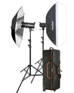 Godox Studio 2 Head Kit SK300 (SK300-KIT) + 2 Light Stand