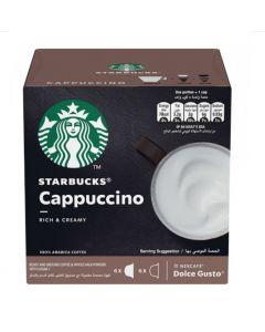 كبسولات ستاربكس بنكهة الكابتشينو، 12 كبسولة (SBUX CAPPUCCINO)