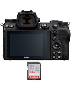 نيكون كاميرا Z6 II + بطاقة ذاكرة 64 جيجابايت (VOA060AM)