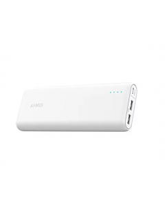 Anker PowerCore Power Bank Charger, Fast Battery Charging, 15600 mAh, Dual USB, White (A1252H21)