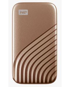 ويسترن ديجيتال ماي باسبورت، 500 جيجابايت، ذهبي (WDBAGF5000AGD-WESN)