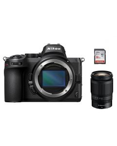 Nikon Z5 Body Only, Full Frame Mirrorless Camera (VOA040AM) + Nikkor Z 24-200mm f/4-6.3 VR Lens + Memory Card 16 GB