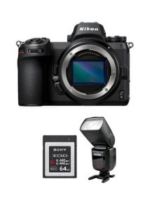 Nikon Z6 Mirrorless Digital Camera  (4K UHD) -Body Only (VOA020AM) + V860 GODOX Flash + Memory Card 64GB + NPM Card