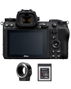 NIKON Z6 II Mirrorless Body Only + FTZ Mount + Memory Card 64GB (VOA060AM)