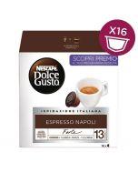 Dolce Gusto Dark Espresso Napoli Capsules Box of 12 (ESPRESSO NAPOLI-HC)