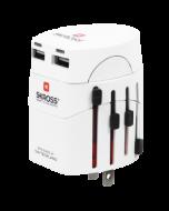 Skross  World Adapter EVO USB, white (1.302101)
