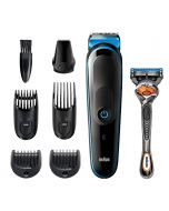 Braun All-in-one trimmer MGK5245, 7-in-1 trimmer, 5 attachments and Gillette Razor (MGK5245)