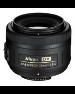 عدسة مخصصة لكاميرا نيكون دي اس ال ار من نيكون AF-S DX نيكور 35 ملم - f/1.8G (JAA132DA)