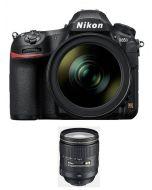 نيكون دي850 كاميرا، هيكل فقط، 45.7 ميجابكسل (VBA520AM) + بطاقة ذاكرة 64 جيجابايت + بطاقة عضوية من نيكون للعملاء +  عدسة 24-120