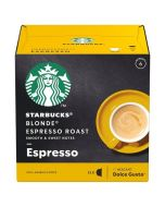 Starbucks Blonde Espresso Capsules By Nescafe Coffee Pods Box of 12 (SBUX BLONDE ESPRESSO ROAST)