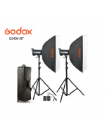 GODOX QS400-KIT STUDIO LIGHT KIT + 2 Pcs Light Stand
