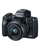 كاميرا كانون (EOSM50-BK) بدون مرآة مع عدسة   15-45 MM أسود