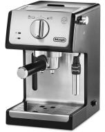 Delonghi Espresso Maker stainless steel boiler, Transparent and removable water reservoir (DLECP35.31)