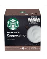 Starbucks Cappuccino Capsules By Nescafe Coffee Pods Box of 12 (SBUX CAPPUCCINO)