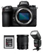 كاميرا نيكون Z6 بدون مرأة (VOA020AM) + عدسة نيكون 24-70 + فلاش جودوكس + بطاقة ذاكره 64 جيجابايت + بطاقة عضوية من نيكون