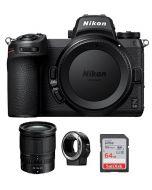NIKON Z6 II Mirrorless  Body Only + 24-70 Lens + FTZ Mount + Memory Card 64GB (VOA060AM)