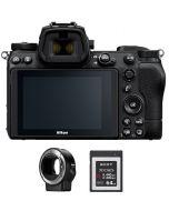 نيكون كاميراZ6 II  + بطاقة ذاكرة 64 جيجابايت + محول FTZ (VOA060AM)
