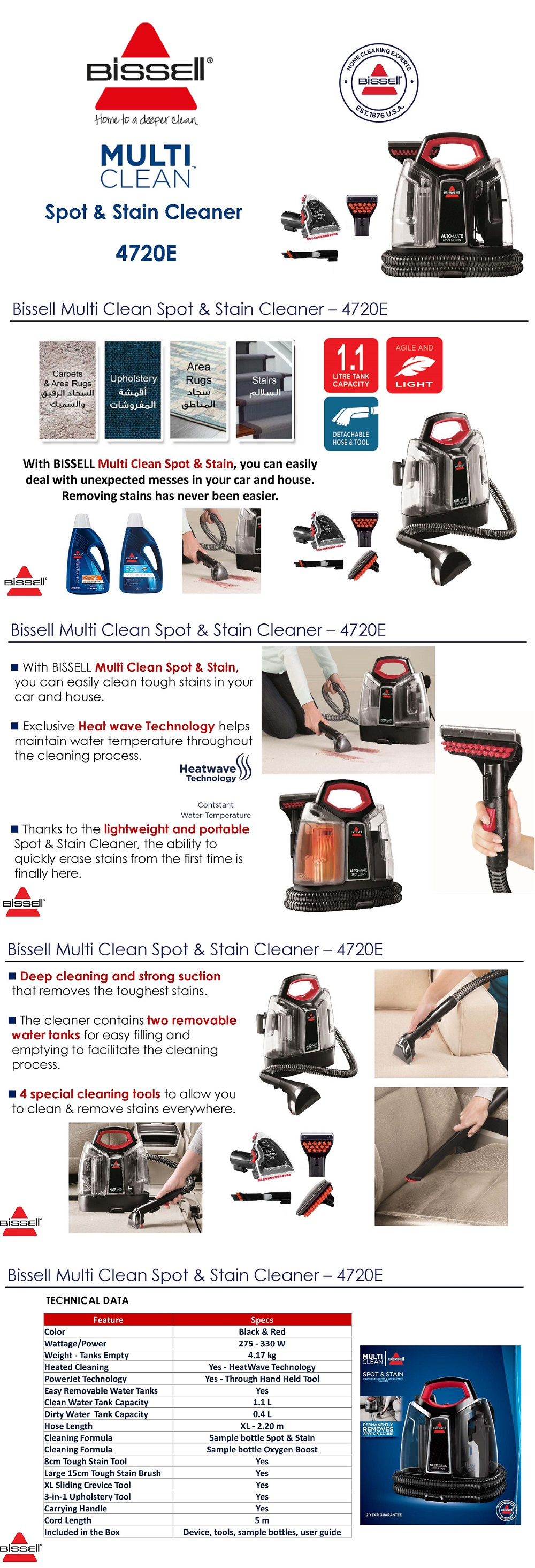BISSELL Hand held Spot Cleaner 4720e