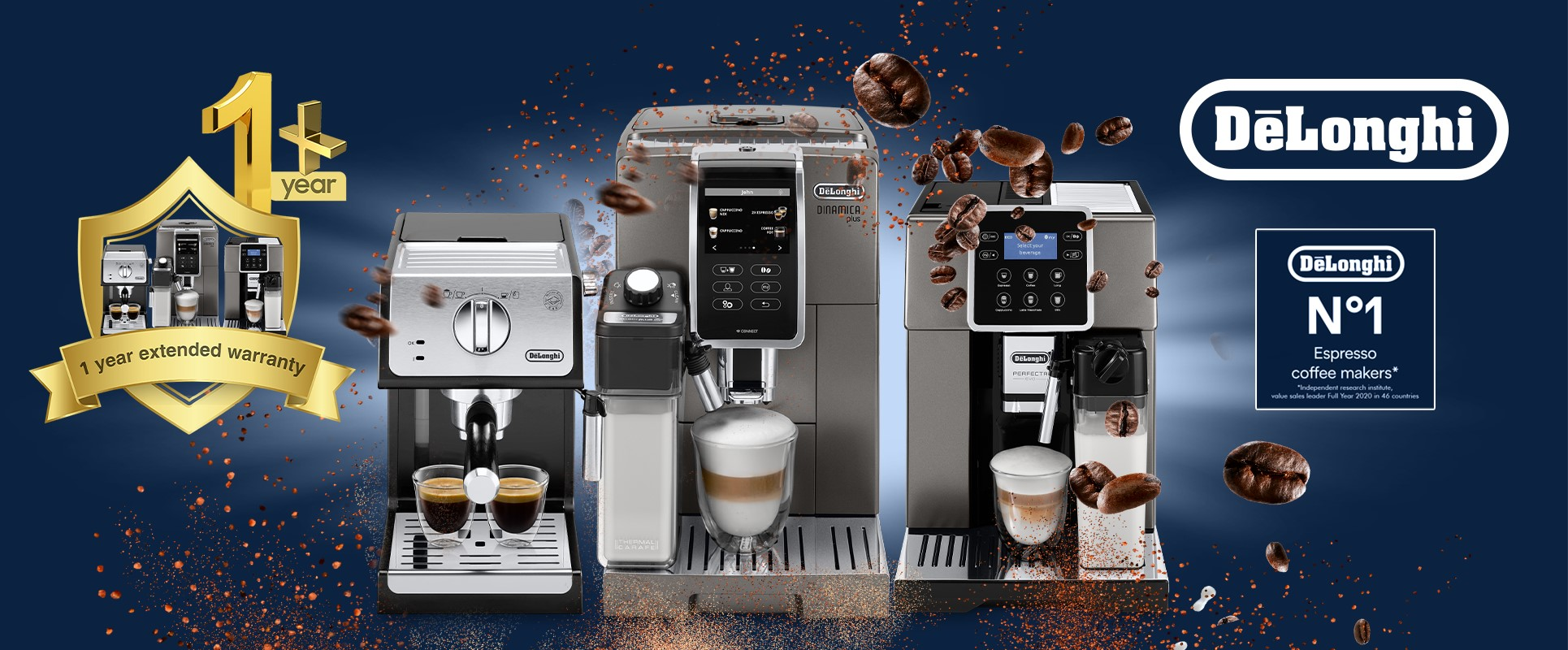 Delonghi Coffee Machines - Exclusive to Abdulwahed